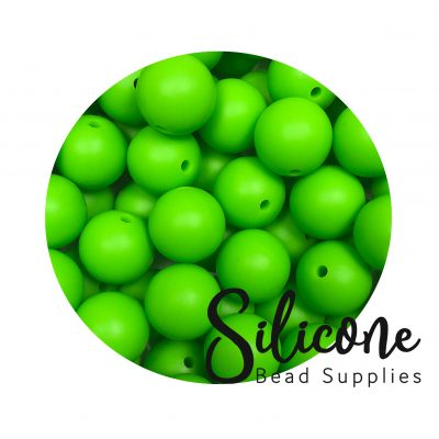 Silicone Bead Supplies - 10 e chartreuse