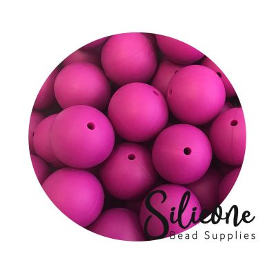 19mm magenta | Silicone Bead Supplies