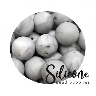 Silicone Bead Supplies - 2 d marbled grey