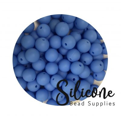 Silicone Bead Supplies - 12 d china blue