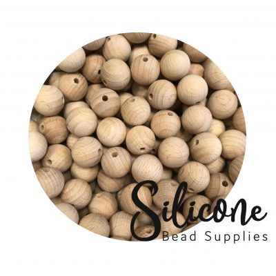 Silicone Bead Supplies - 10mm wooden