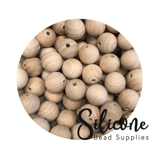 Silicone Bead Supplies - 12mm wooden