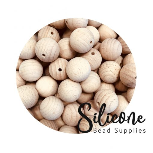 Silicone Bead Supplies - 15mm wooden