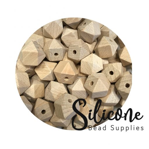 Silicone Bead Supplies - 20mm hex wooden