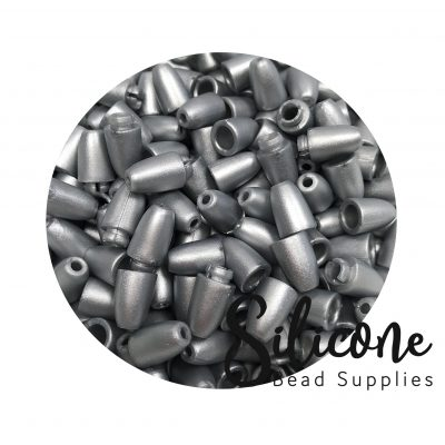 Silicone Bead Supplies - Silver Claps
