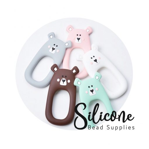 Bear Teether Mint | Silicone Bead Supplies
