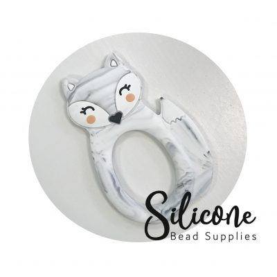 Marble grey fox | Silicone Bead Supplies