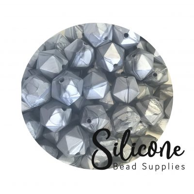 x2a metallic silver | Silicone Bead Supplies