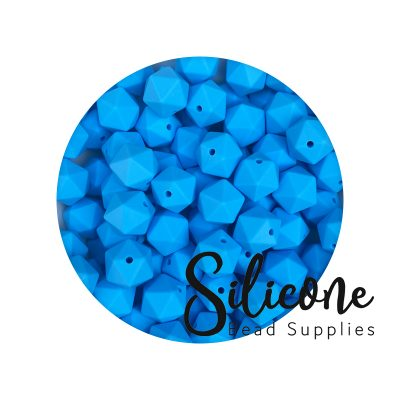 icosahedron 14mm baby blue