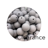 Round 15mm Grey / Purple (Clearance)